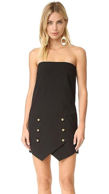 Michelle Mason Strapless Mini Dress