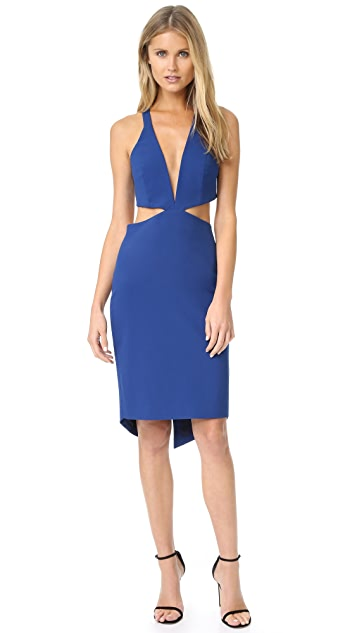 Michelle Mason Cutout Plunge Dress