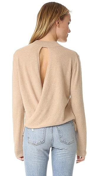 Michelle Mason Back Drape Sweater