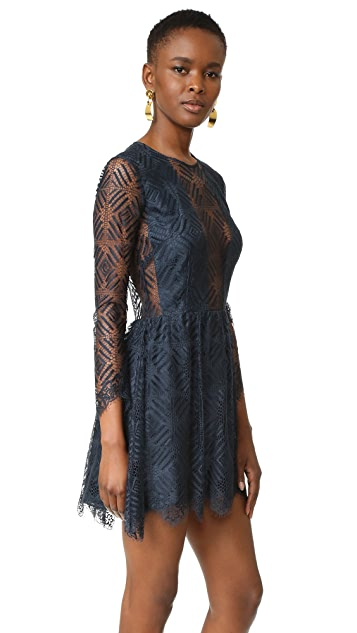 Michelle Mason Lace Mini Dress