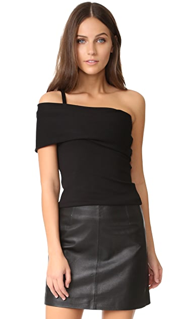 Michelle Mason Asymmetrical Strap Top