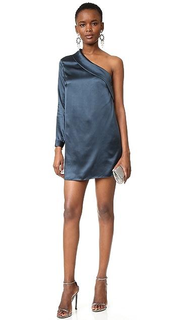 Michelle Mason Asymmetrical Lapel Shift Dress
