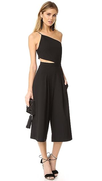 Michelle Mason Asymmetrical Bandeau Jumpsuit