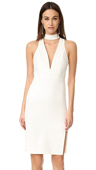 Michelle Mason Choker Plunge Dress