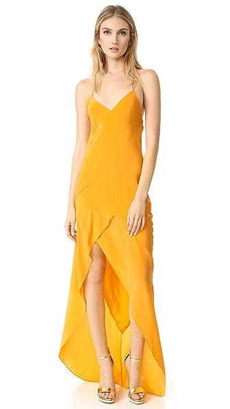 Michelle Mason Bias Ruffle Gown
