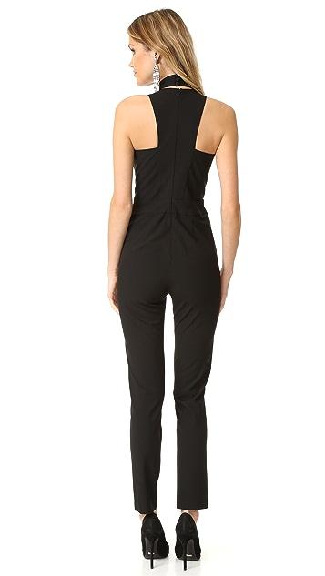 Michelle Mason Choker Plunge Neck Jumpsuit