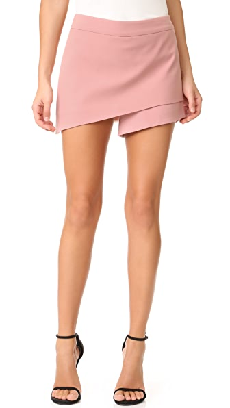Michelle Mason Asymmetrical Skort - Dark Blush