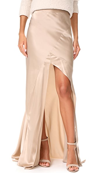 Michelle Mason Bias Maxi Skirt