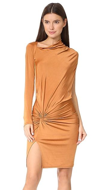 Michelle Mason Twist Mini Dress
