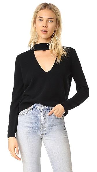 Michelle Mason Choker Sweater In Black