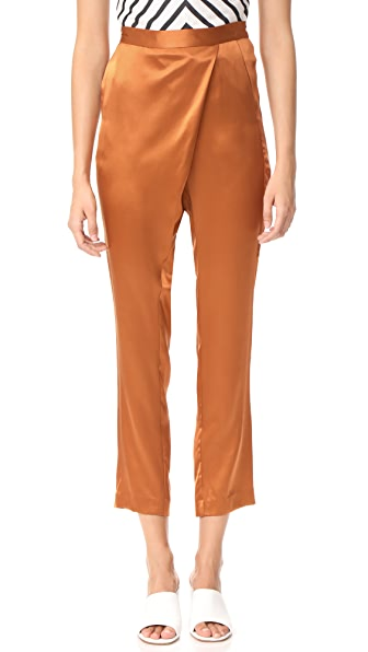 Michelle Mason Wrap Pants - Copper