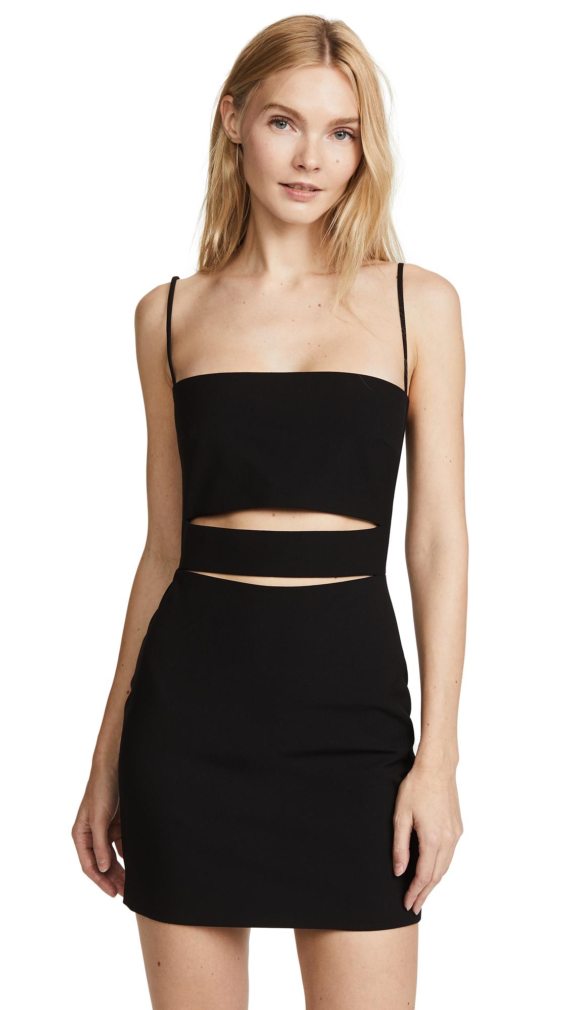 Michelle Mason Cutout Mini Dress - Black