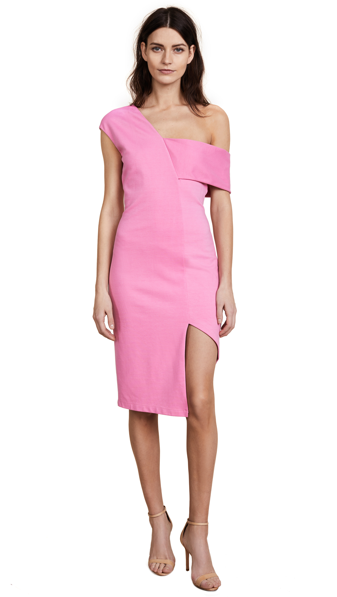 Michelle Mason Asymmetric Strap Dress
