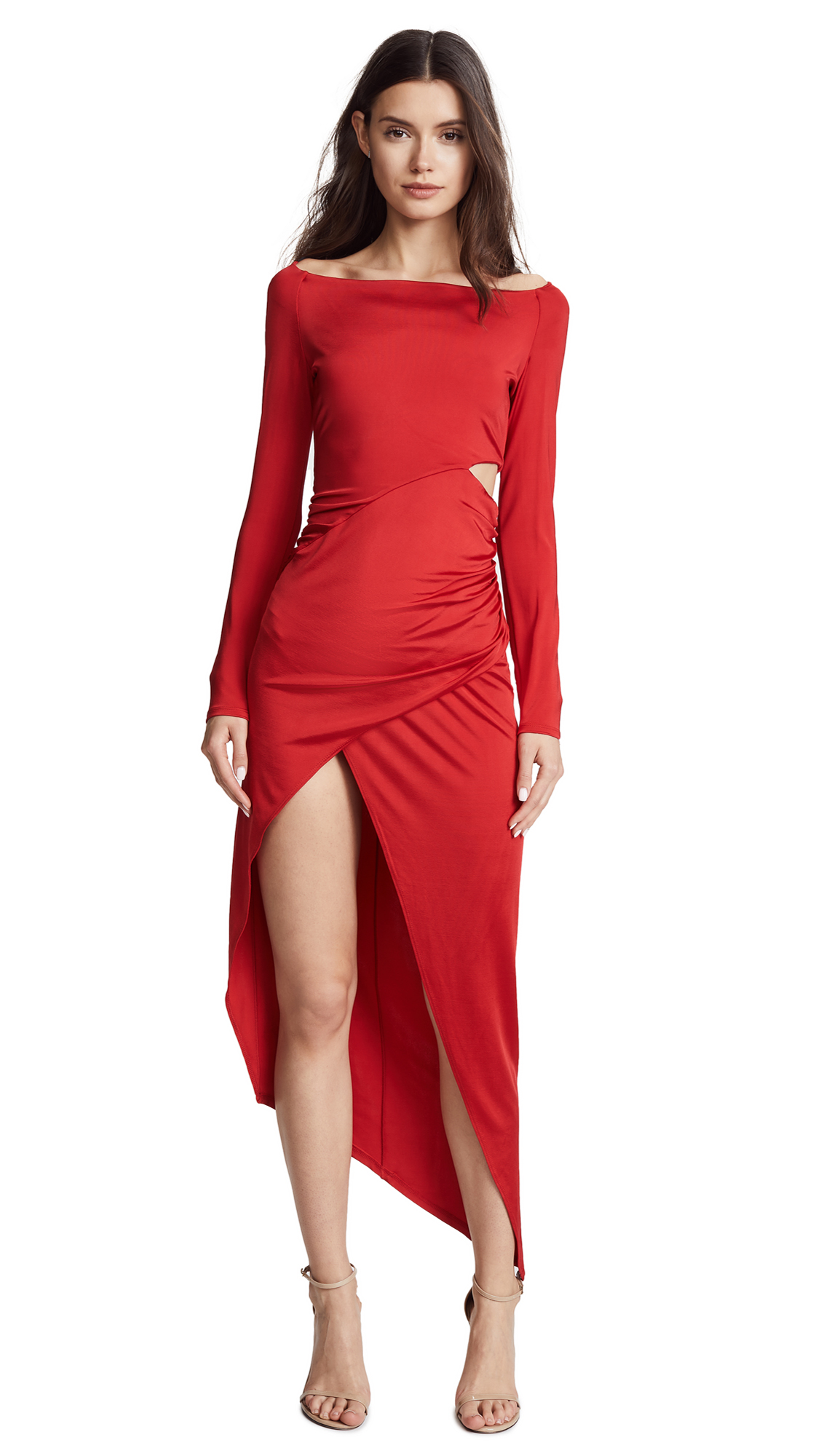 Michelle Mason Boat Neck Wrap Dress