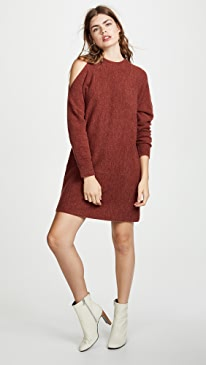 3bf7dee440a1 Michelle Mason. Cold Shoulder Sweater Dress