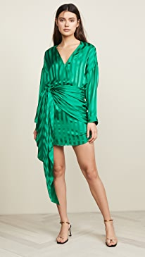 0e26749a27f9 Michelle Mason. Long Sleeve Mini Wrap Dress