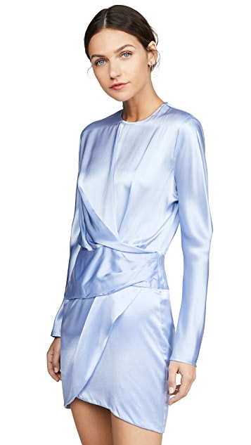 Michelle Mason Origami Mini Dress