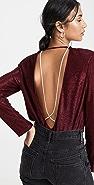 Michelle Mason 水晶长袖 T 恤