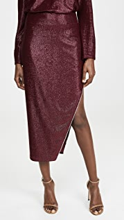Michelle Mason Skirt with Crystals