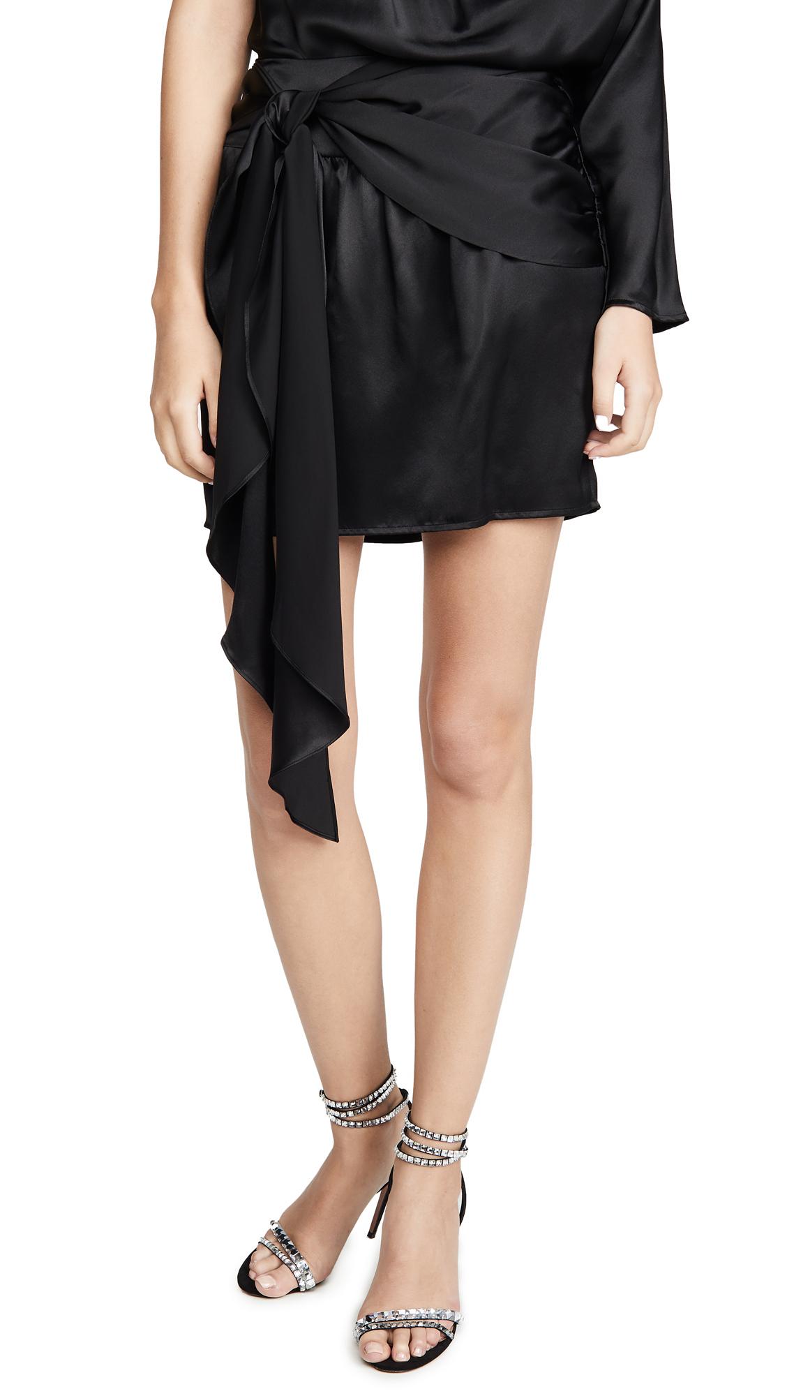 Buy Michelle Mason online - photo of Michelle Mason Miniskirt with Sash
