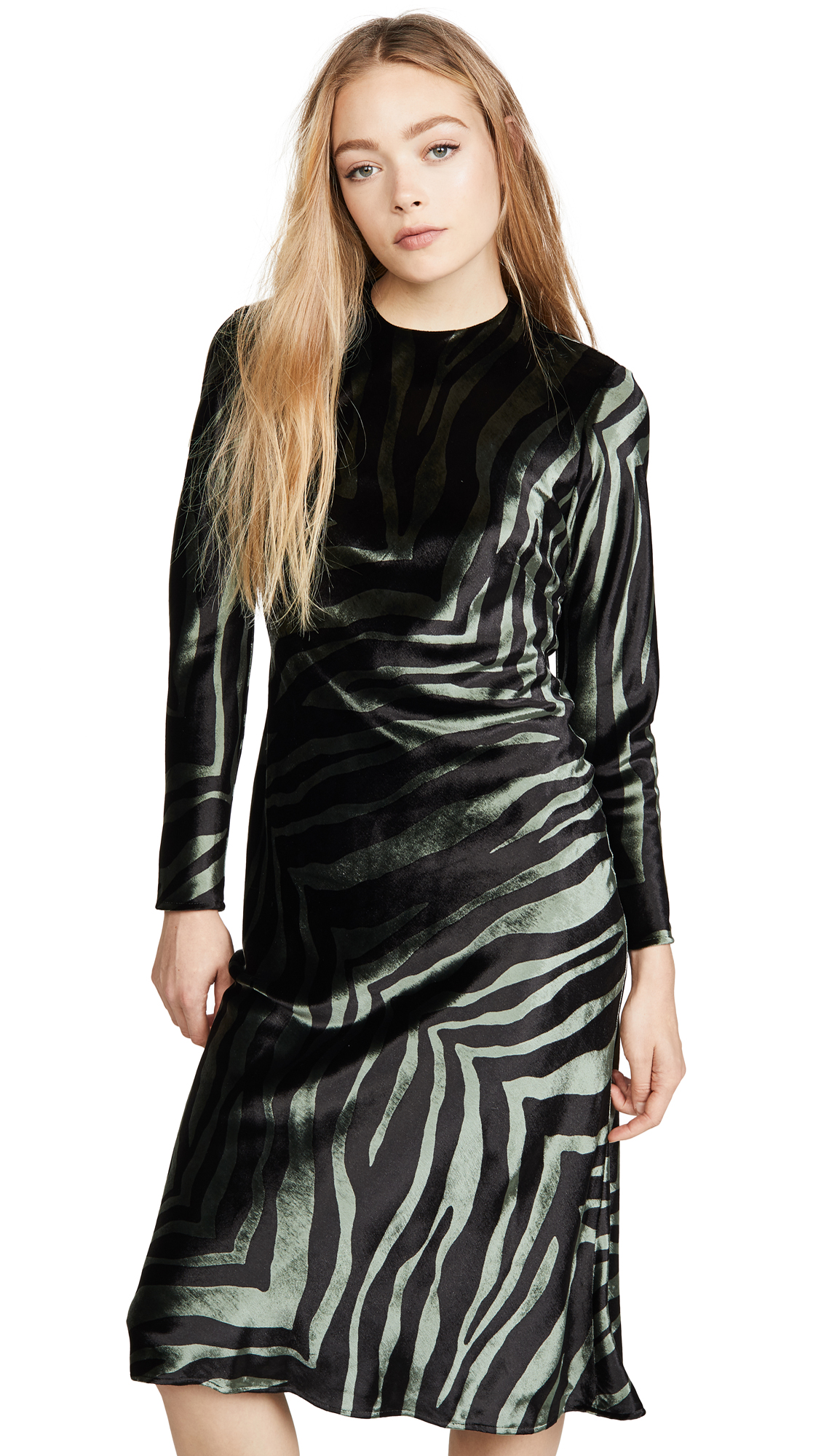 Buy Michelle Mason online - photo of Michelle Mason Long Sleeve Dress with Open Back
