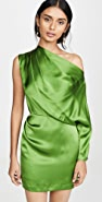Michelle Mason One Sleeve Draped Mini Dress