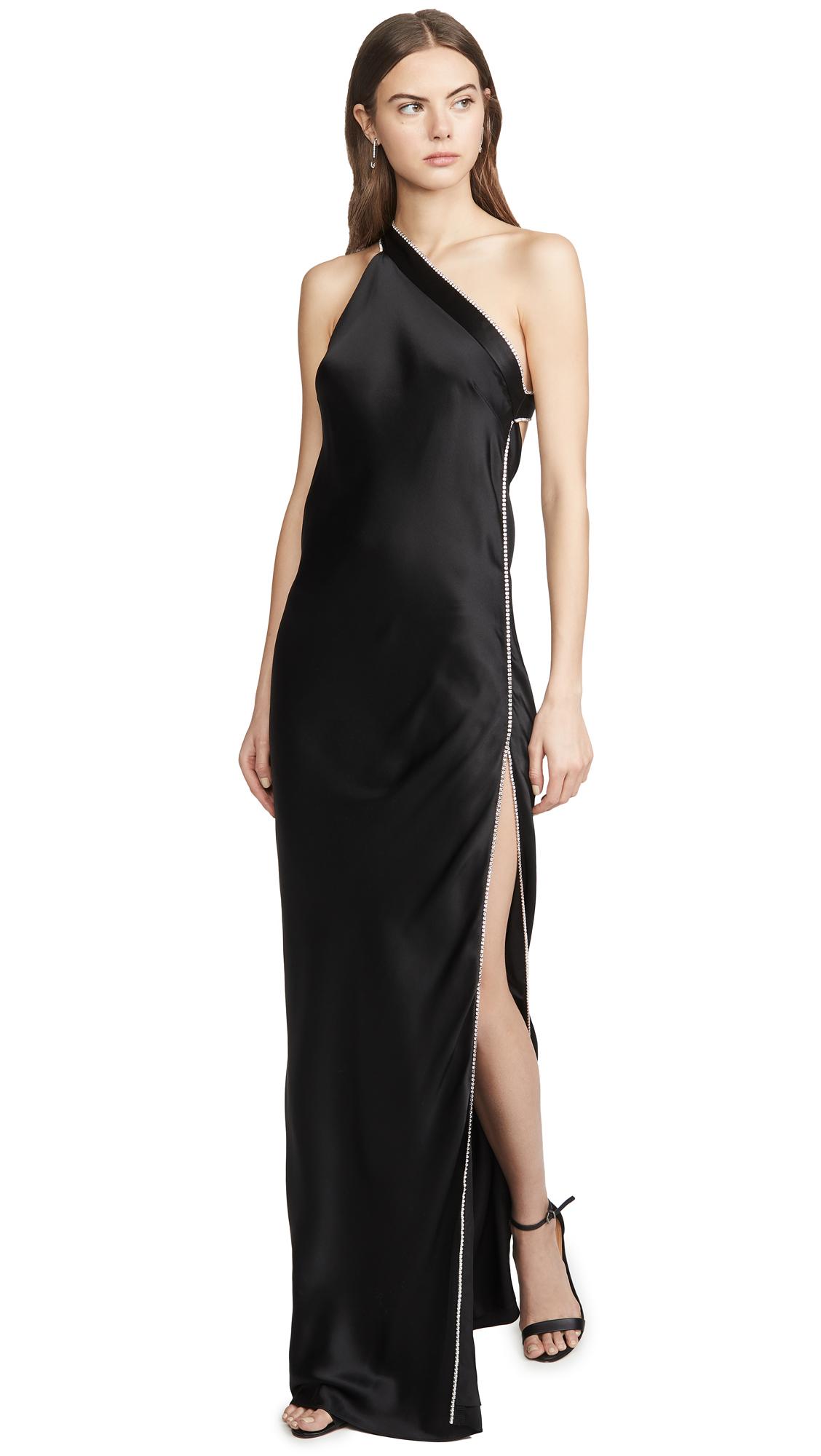 Buy Michelle Mason online - photo of Michelle Mason Crystal Asymmetrical Gown
