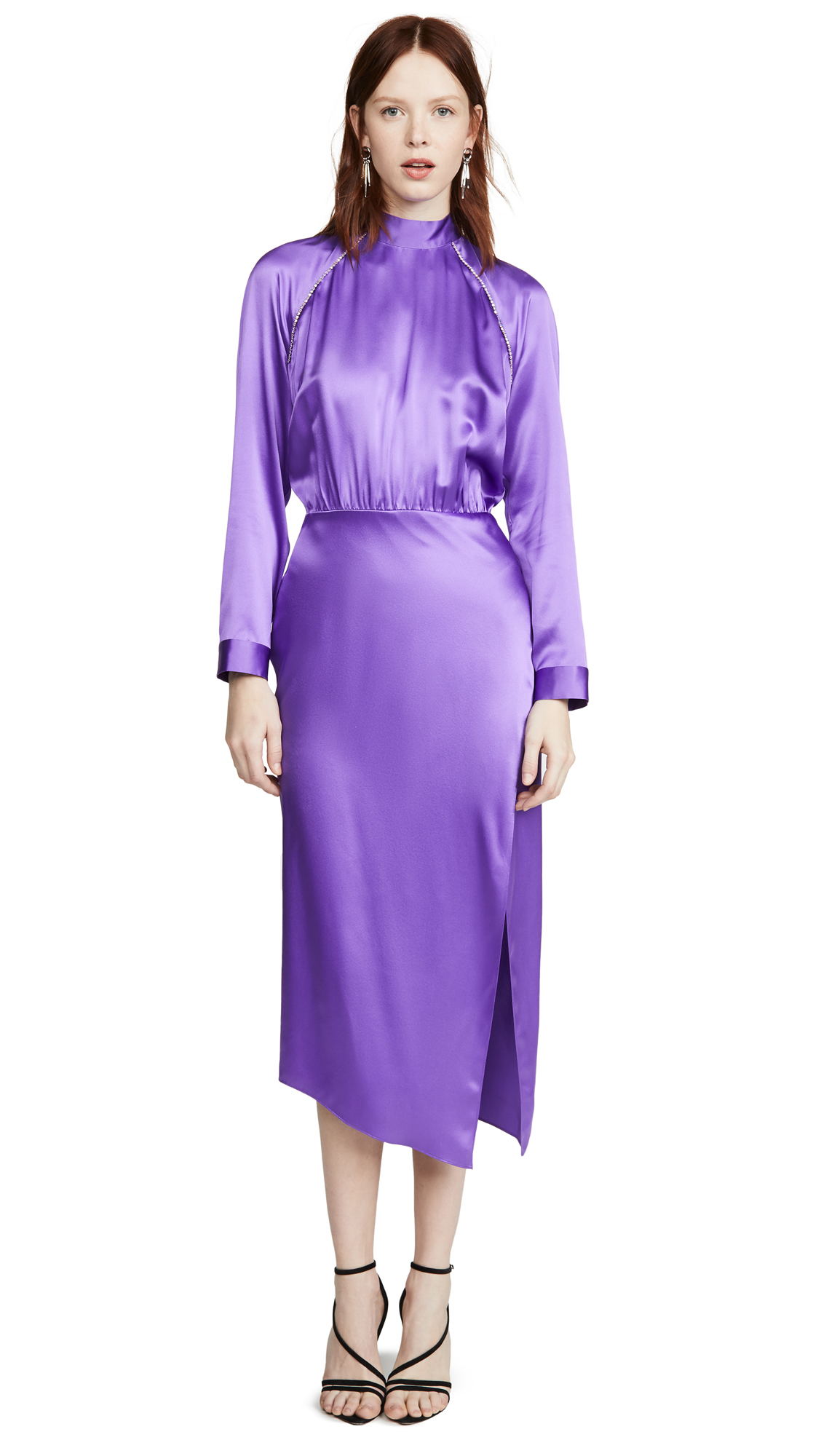 Buy Michelle Mason online - photo of Michelle Mason Raglan Dress with Crystal Trim