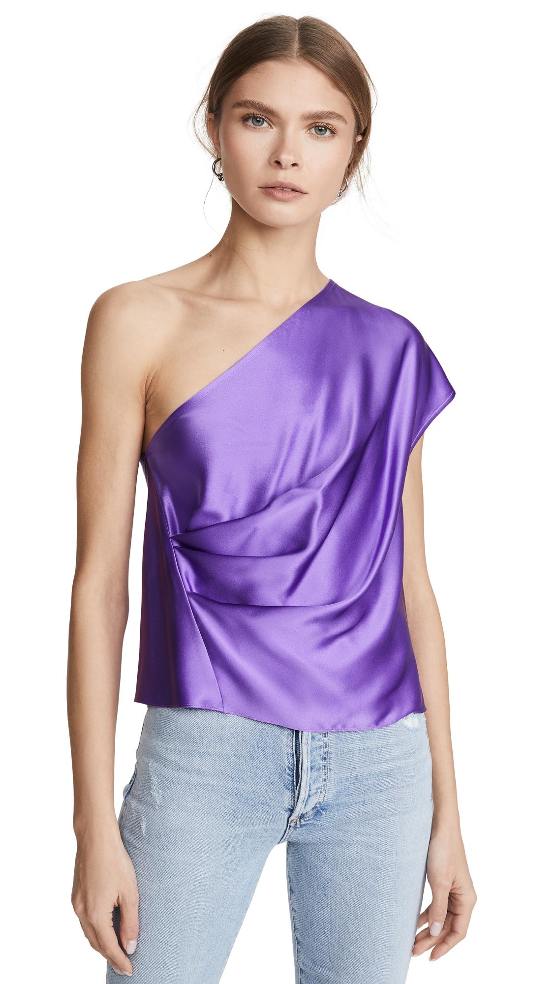 Buy Michelle Mason online - photo of Michelle Mason One Shoulder Drape Top