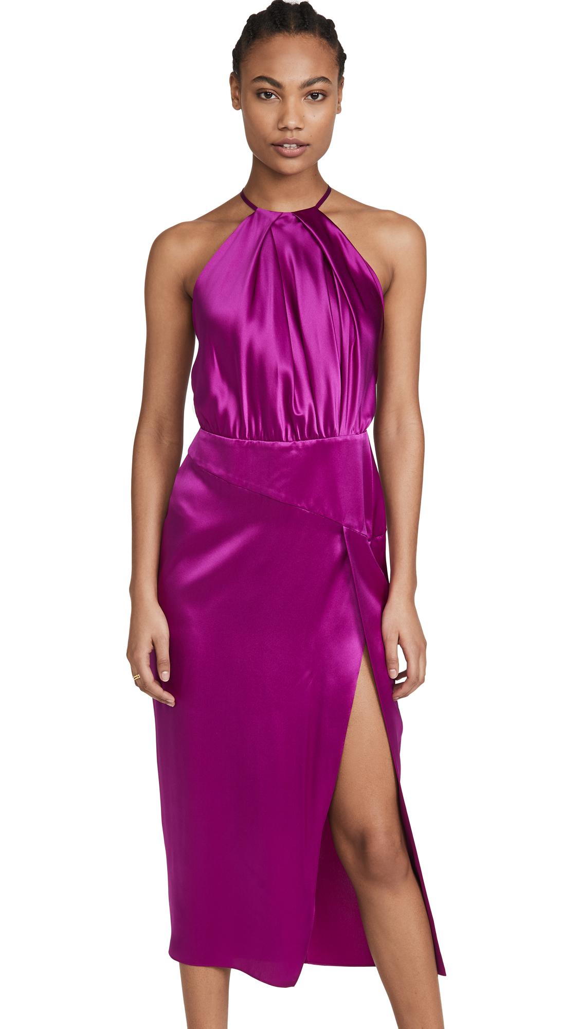 Buy Michelle Mason Pleat Halter Dress online beautiful Michelle Mason Clothing, Dresses