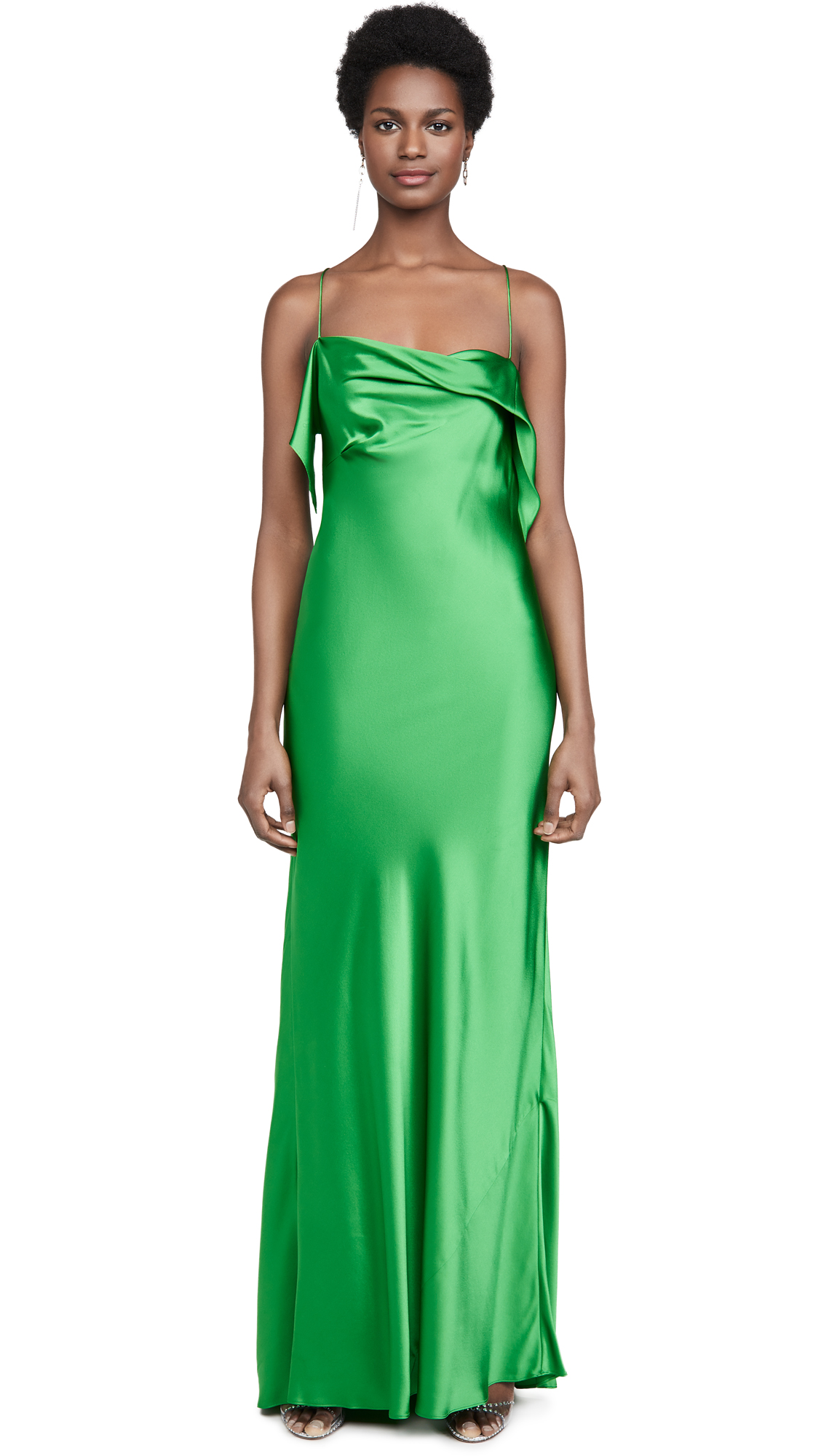 Buy Michelle Mason Ruffle Cowl Bias Gown online beautiful Michelle Mason Dresses, Strapless