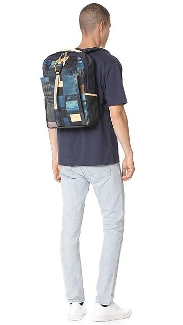 Master-Piece x FDMTL Denim Patchwork Backpack
