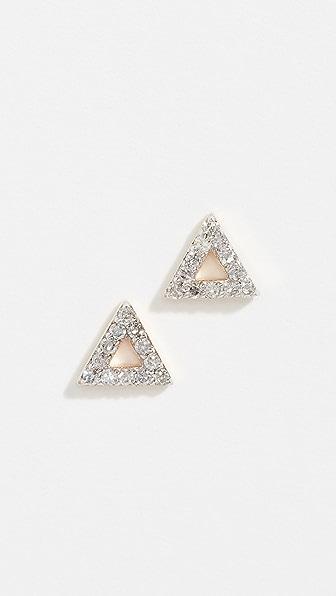 Mateo 14K MINI DIAMOND TRIANGLE STUDS