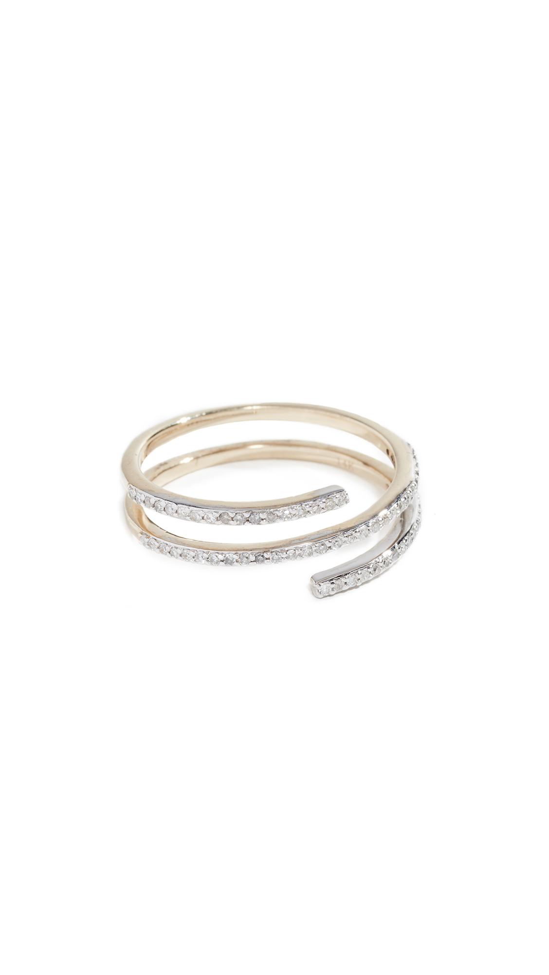 MATEO 14K Diamond Spiral Ring in Yellow Gold