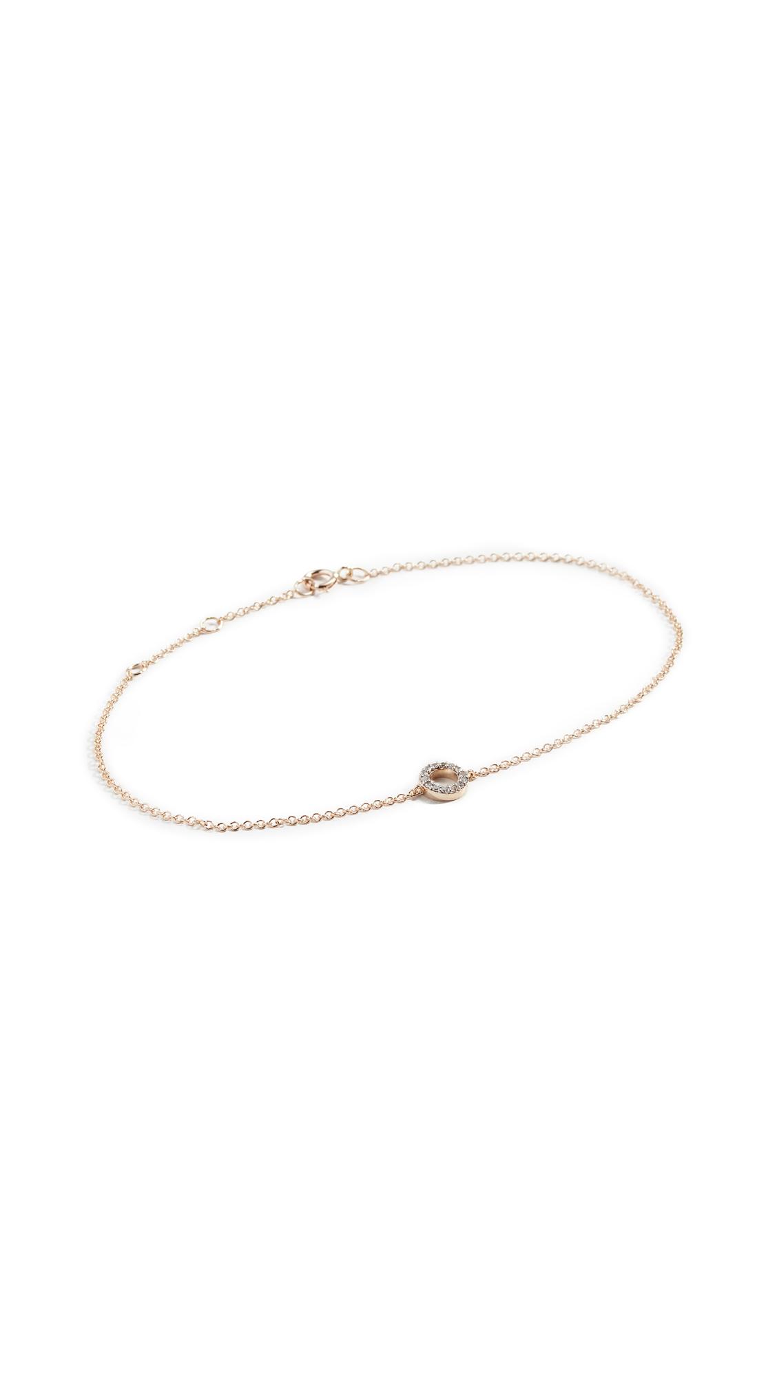 MATEO 14K Mini Diamond Circle Bracelet in Yellow Gold