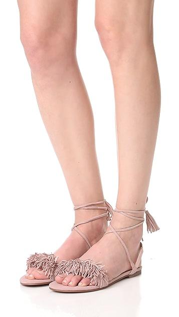 Matiko Delilah Fringe Flat Sandals