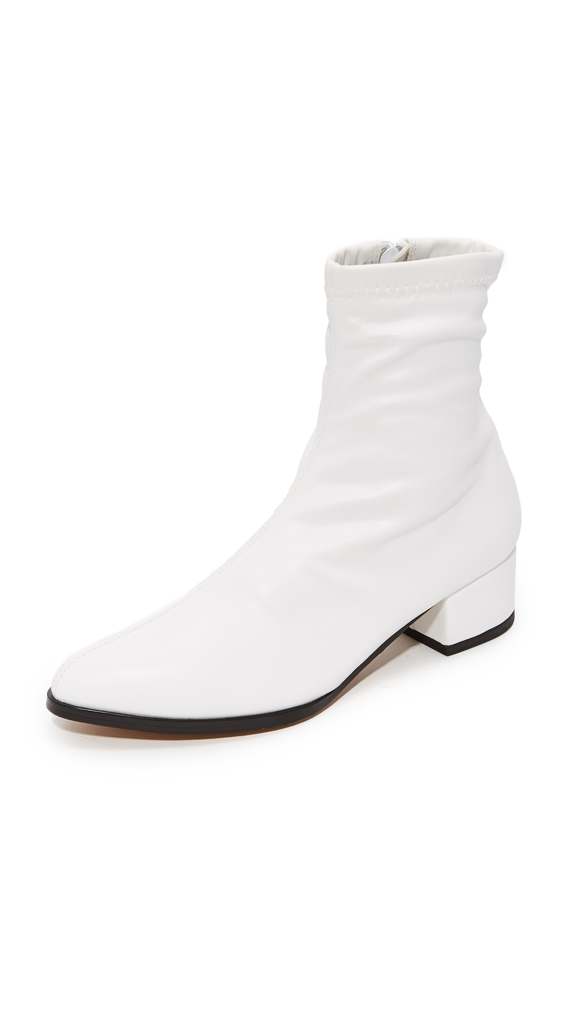 Matiko Jeanne Ankle Boots - White
