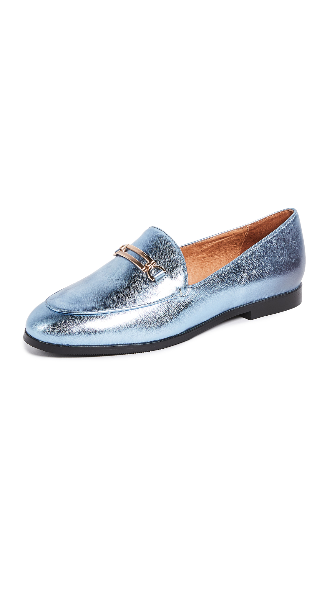 Matiko Leslie Metallic Loafers - Grey