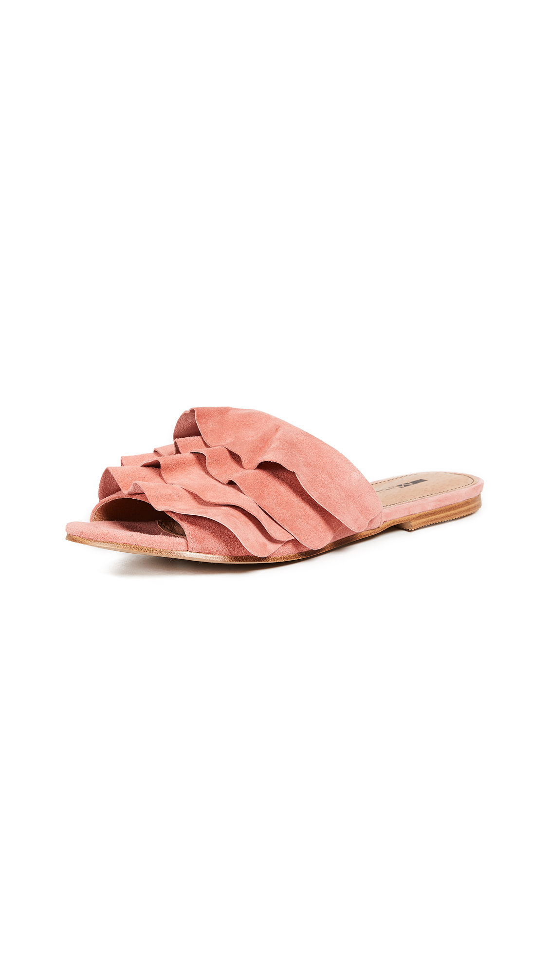 Matiko Roselyn Ruffled Sandals - Peach