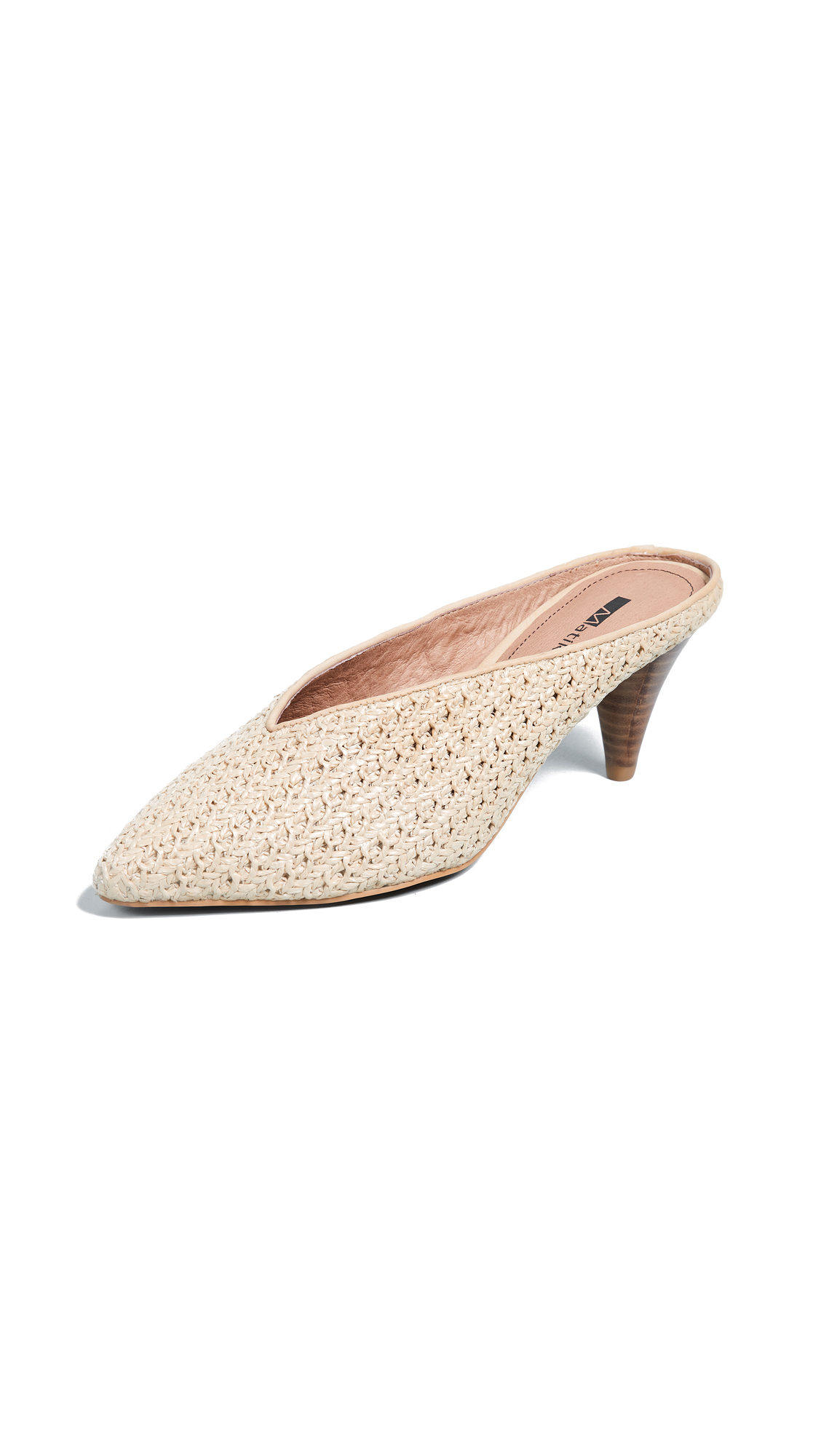 Matiko Lisa Point Toe Mules - Light Brown