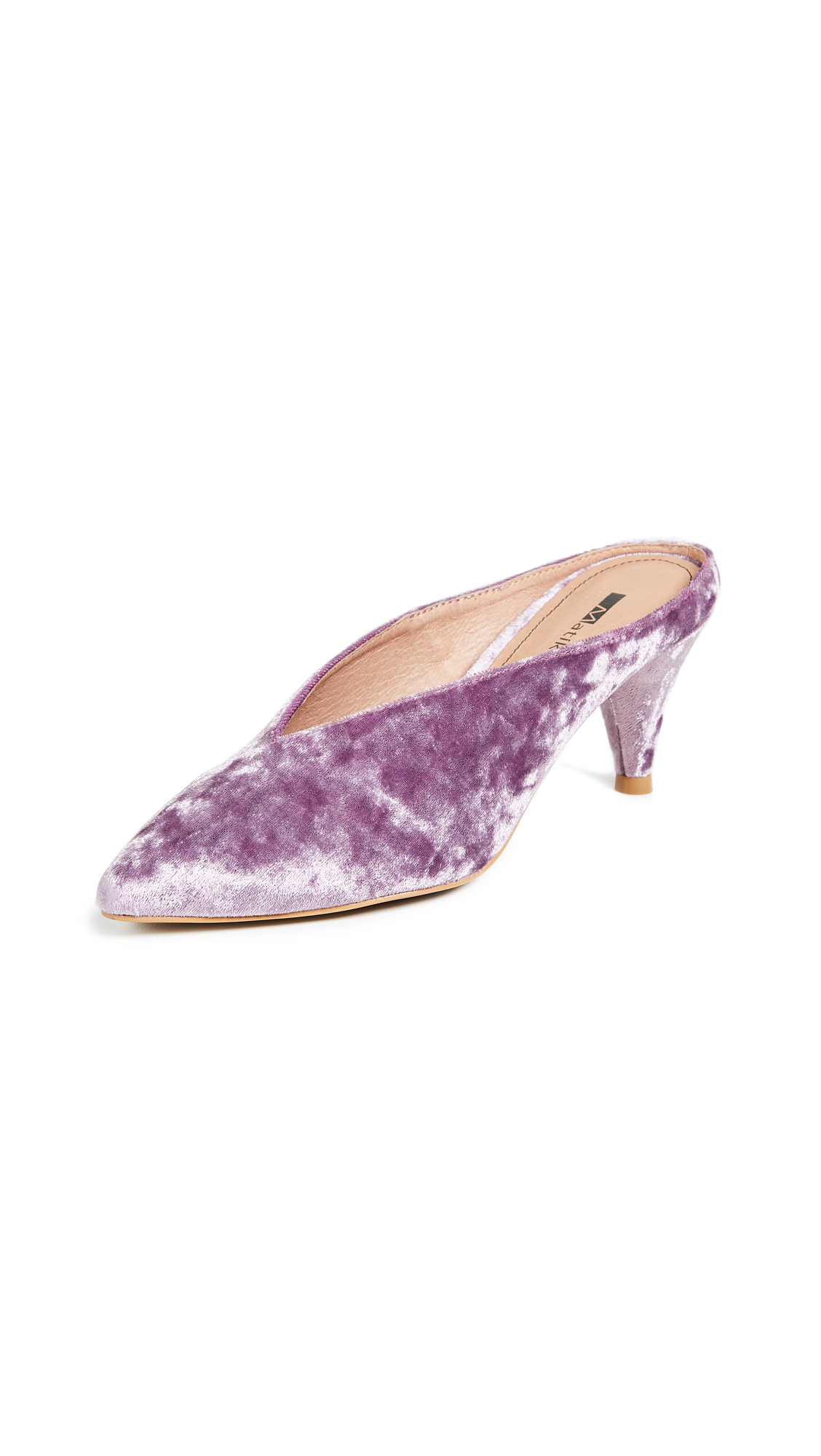 Matiko Lisa Point Toe Mules - Purple