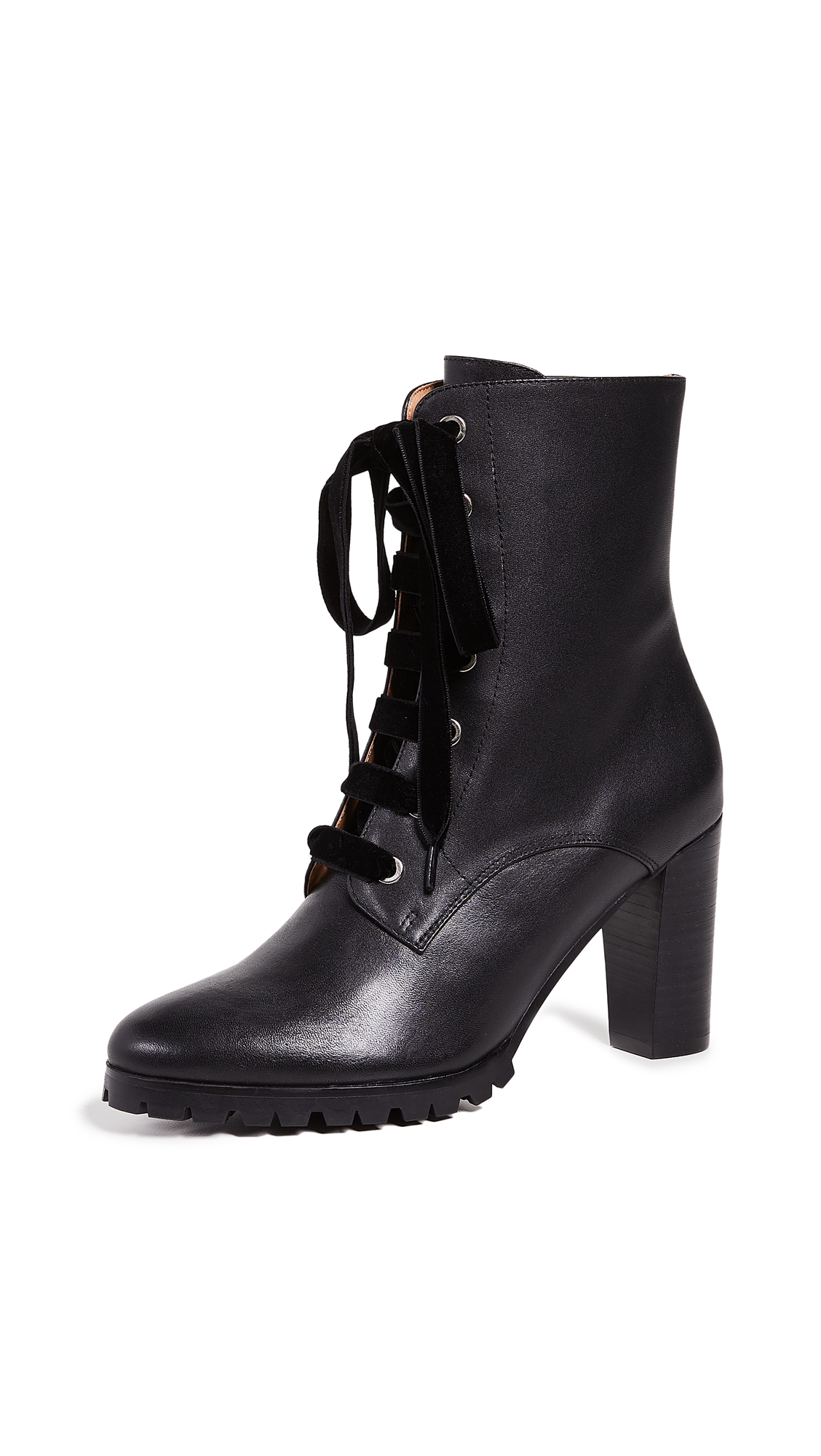 Matiko Emma Lace Up Boots - Black