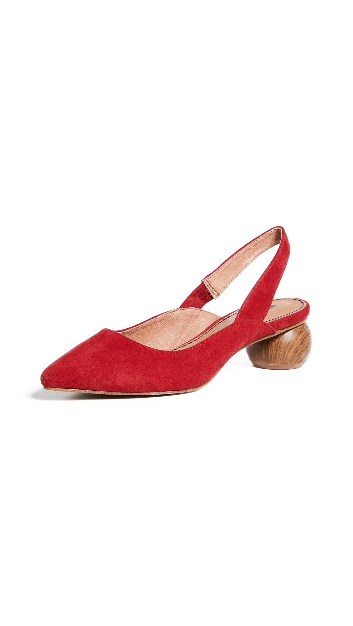Matiko Circa Slingback Pumps - Red