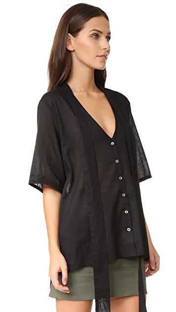 MATIN Button Up Shirt with Scarf