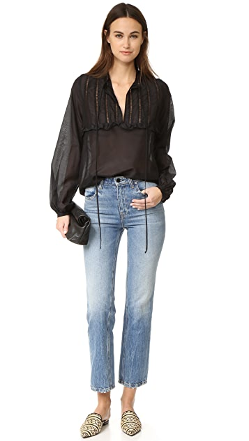MATIN St. Jean Ruffle Full Sleeve Top