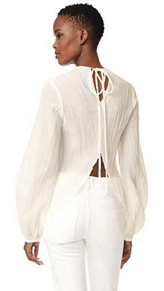 MATIN Split Back Top - Ivory