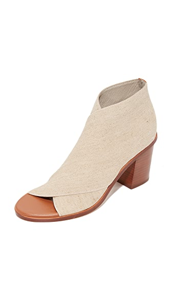 Matt Bernson Jette Open Toe Booties In Sand/Cognac