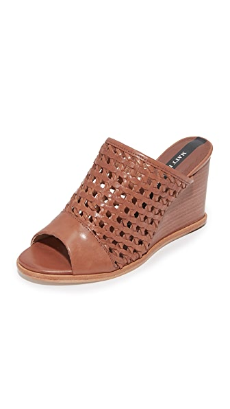 Matt Bernson Pia Woven Leather Wedges - Rye
