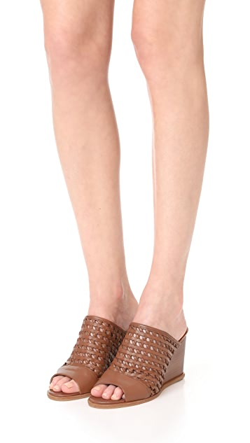 Matt Bernson Pia Woven Leather Wedges