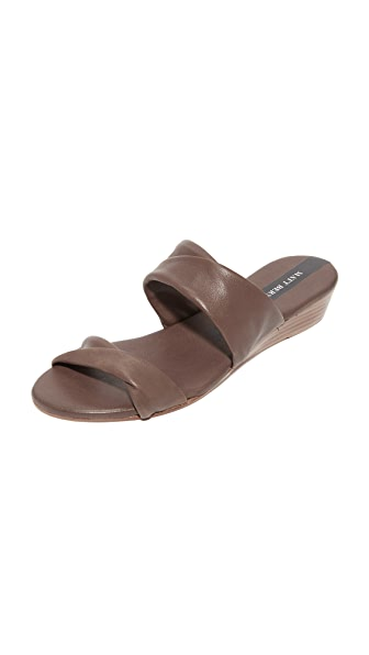 Matt Bernson Clover Demi Wedge Slides - Ash